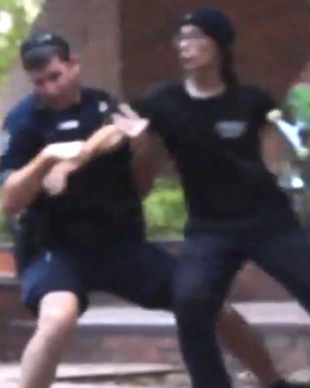 Florida Cop Slams Teen Skateboarder To Street (Video) Promo Image