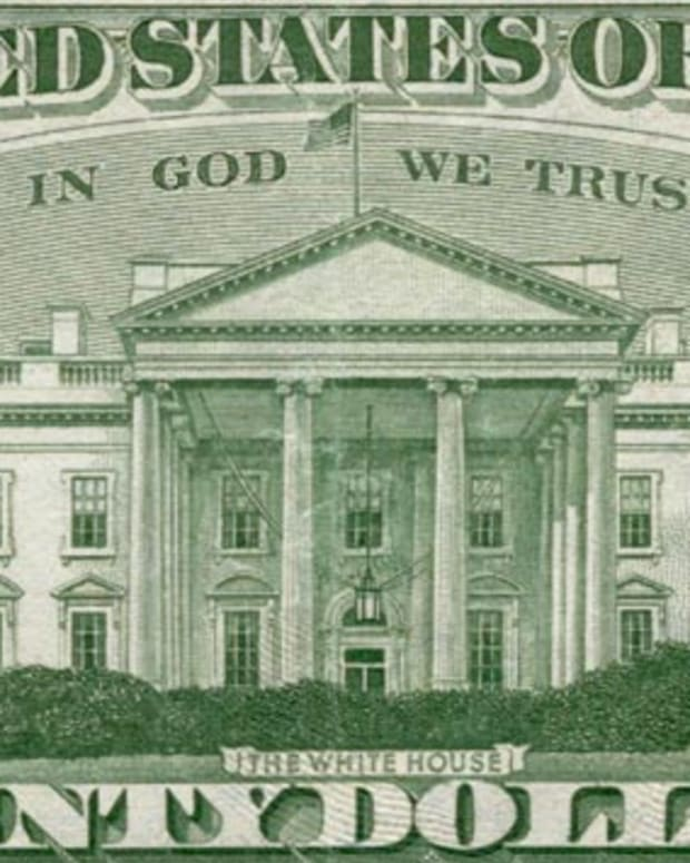 "U.S. currency featuring the national motto, ""In God We Trust."""