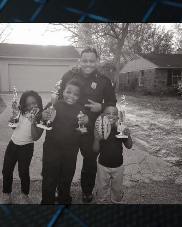 Police Officer Reaches Out To Scared Children (Video) Promo Image