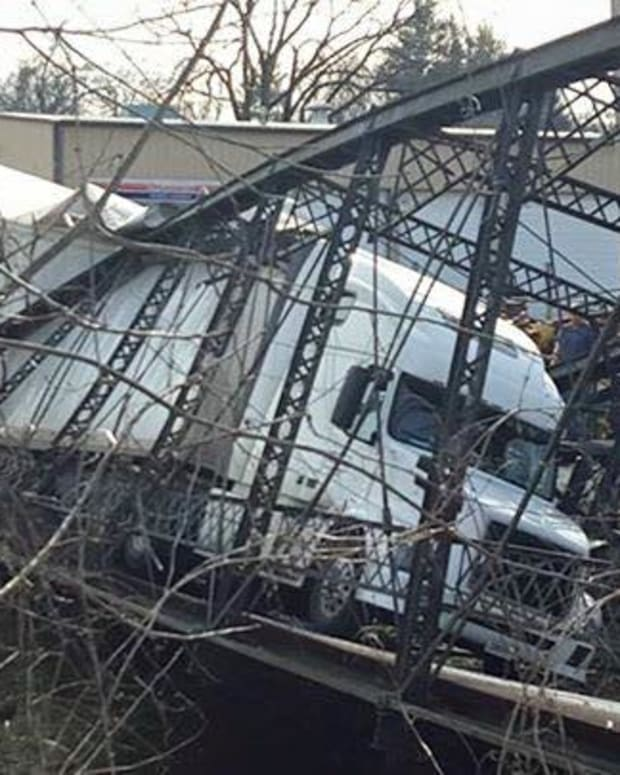 A Semitrailer Causing A Bridge Collapse.