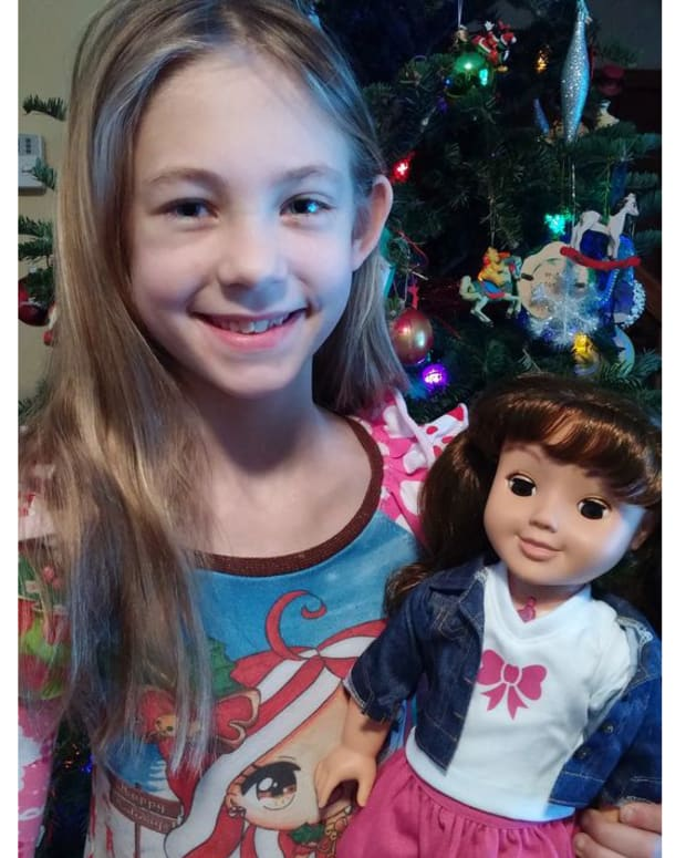natalie and her cayla doll