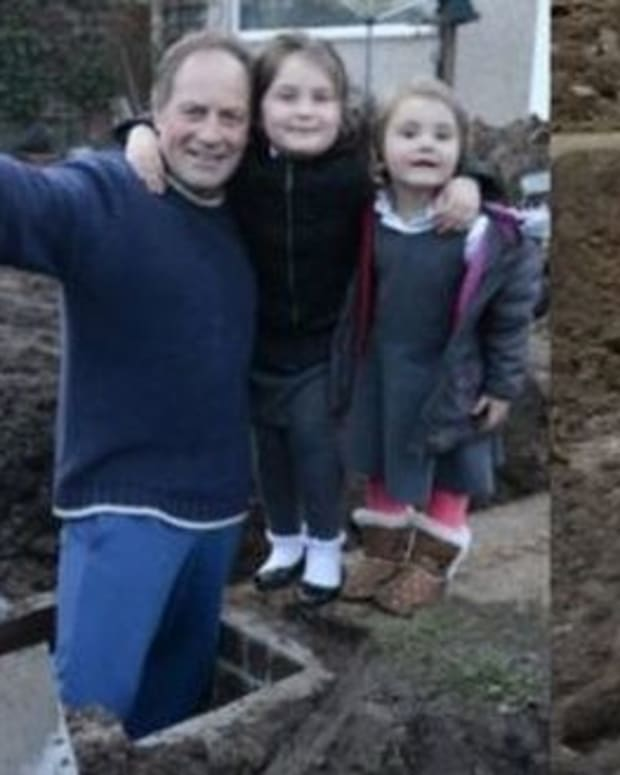 Dad Makes Unusual Discovery Underneath His Lawn (Photos)  Promo Image