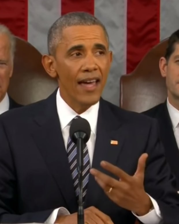 U.S. President Barack Obama during his State of the Union Address