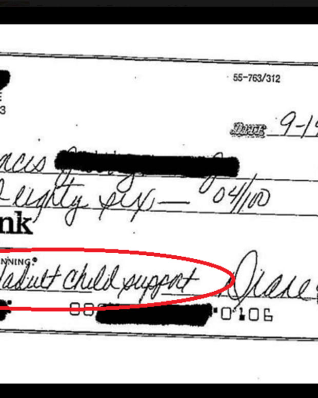 one of Diane Wagner's alimony checks