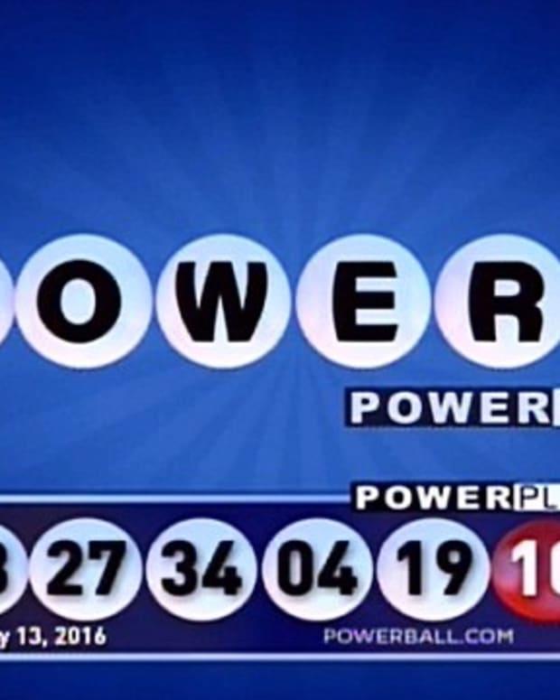 The winning powerball numbers