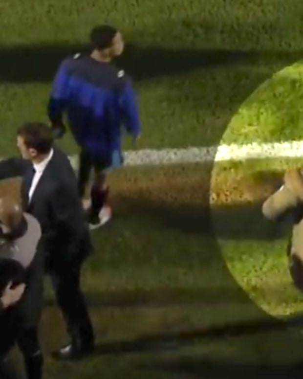Leyton Orient President Kicks Assistant Manager.