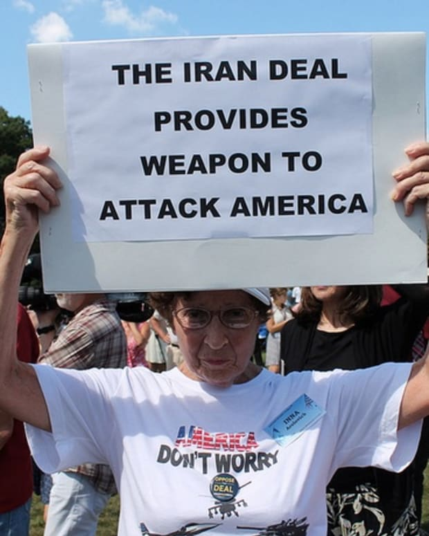 Tea Party Iran Deal Protester