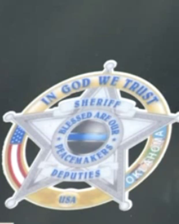 Oklahoma's LeFlore County's 'In God We Trust' Decal