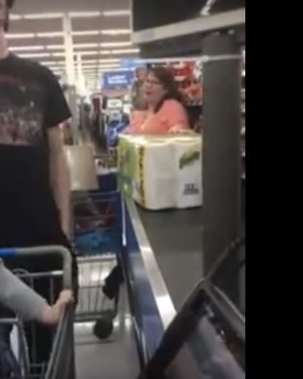 Woman Yells At Man Over Food Stamps At Wal-Mart (Video) Promo Image