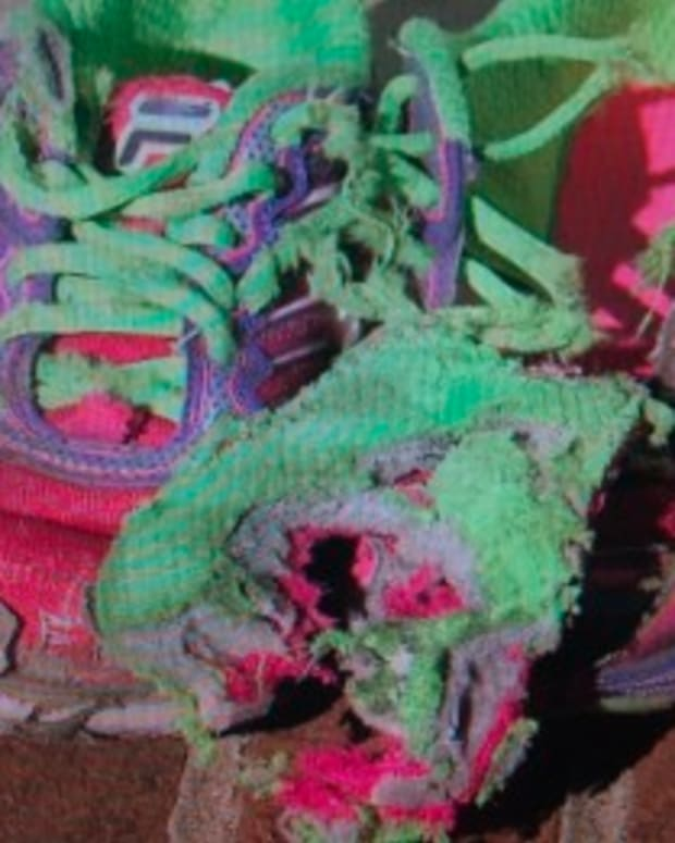 Chelsea's shoes after the incident