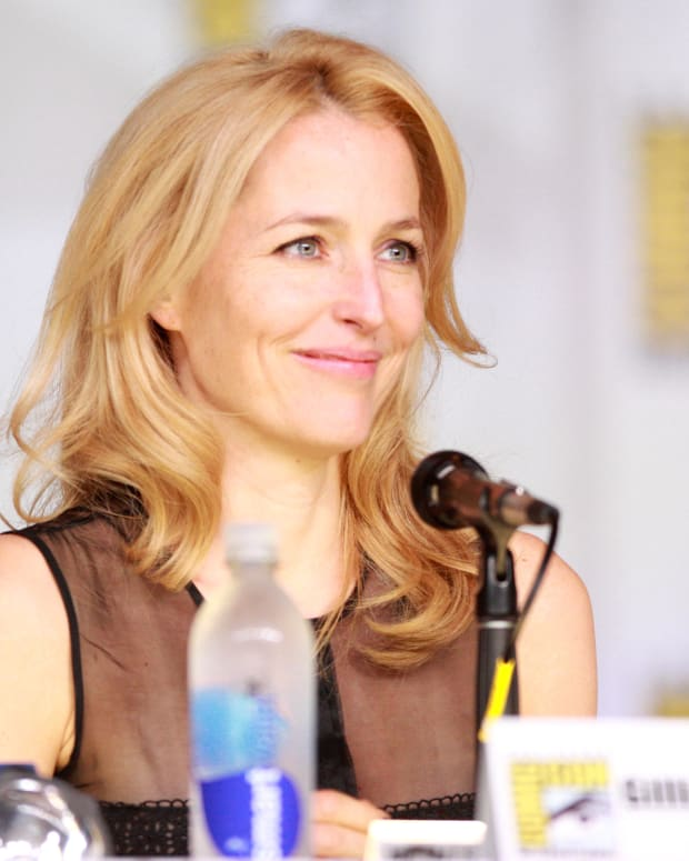 Gillian Anderson Would Consider Playing 'Jane Bond' Promo Image