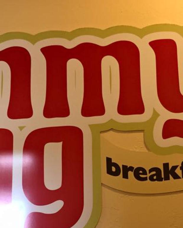 Jimmy's Egg Sign.