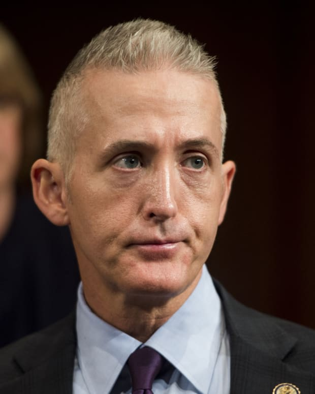 Trey Gowdy speaks during a radio interview