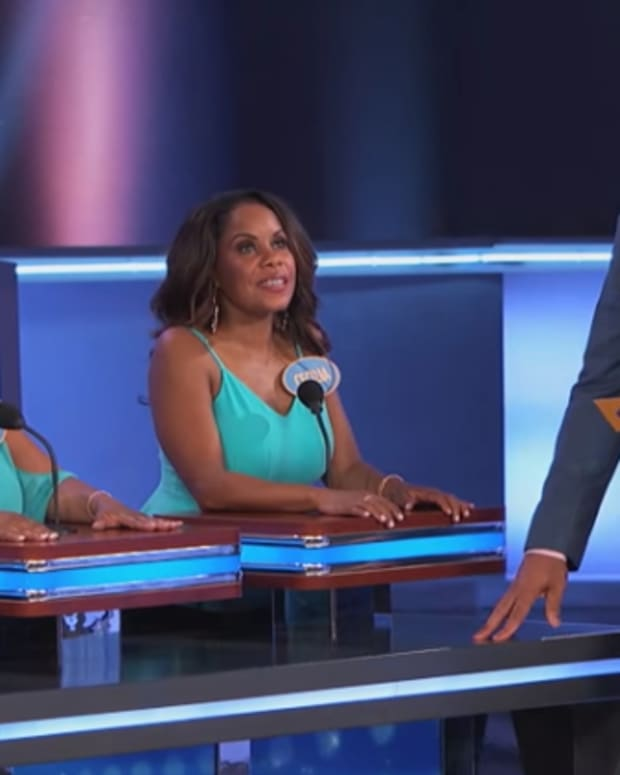 Sheila and a family member on 'Family Feud'