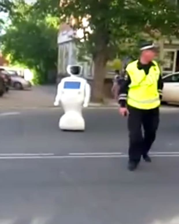 Runaway Robot Blocks Traffic, May Get Turned Off (Video) Promo Image