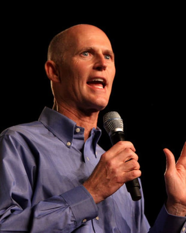 Rick Scott Endorses Trump, Calls Out GOP Establishment Promo Image