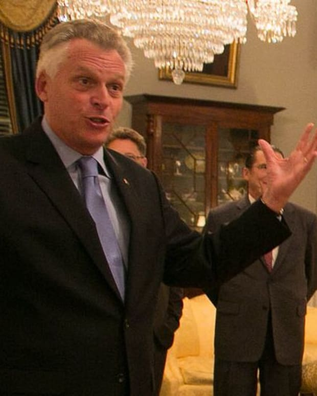 Virginia Gov. Terry McAuliffe.