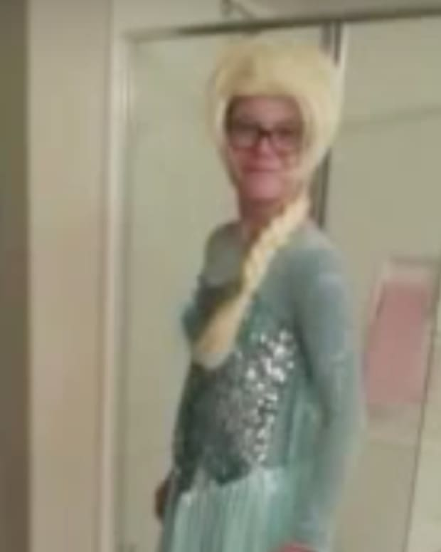 Austin Lacey dressed as Elsa
