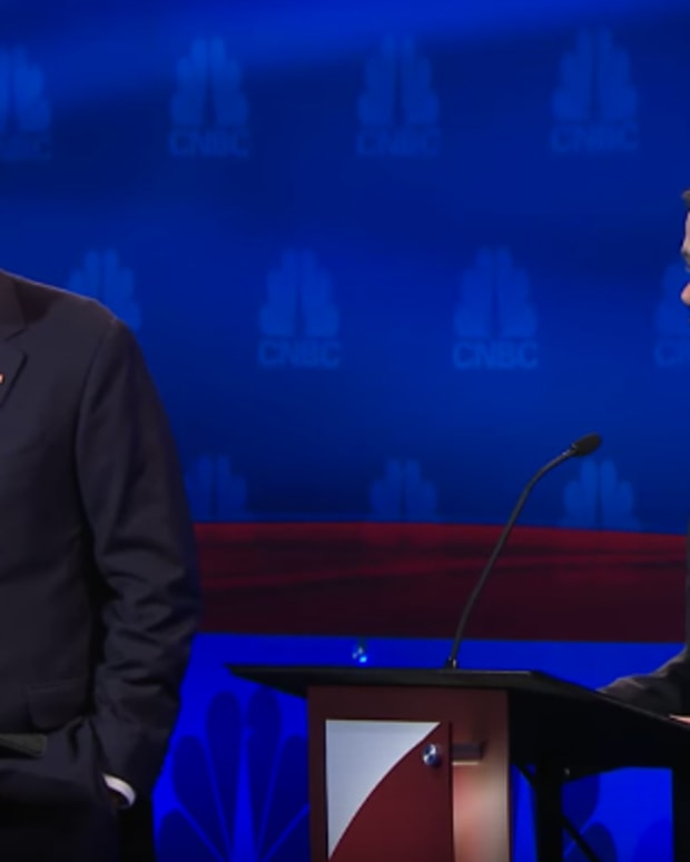 Jeb Bush and Marco Rubio at the Oct. 28 Republican debate