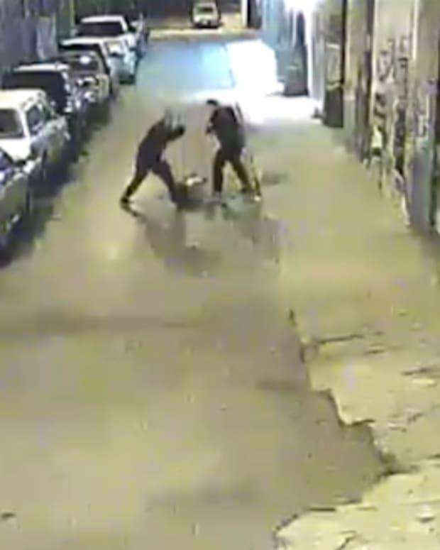 Alameda County Sheriff Deputies beating man