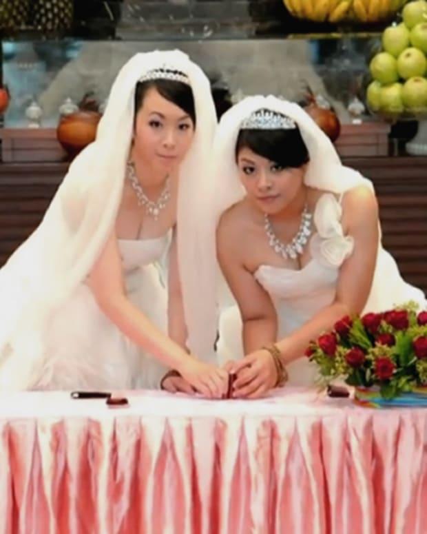 A lesbian wedding.