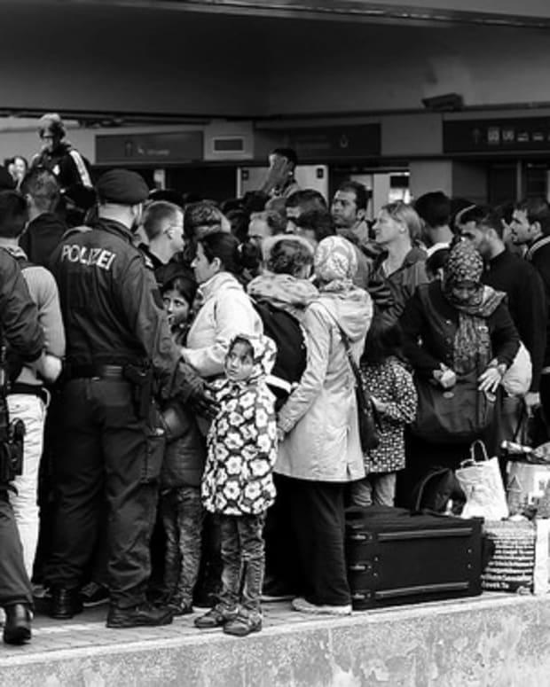 Syrian Refugees in Vienna, Austria.