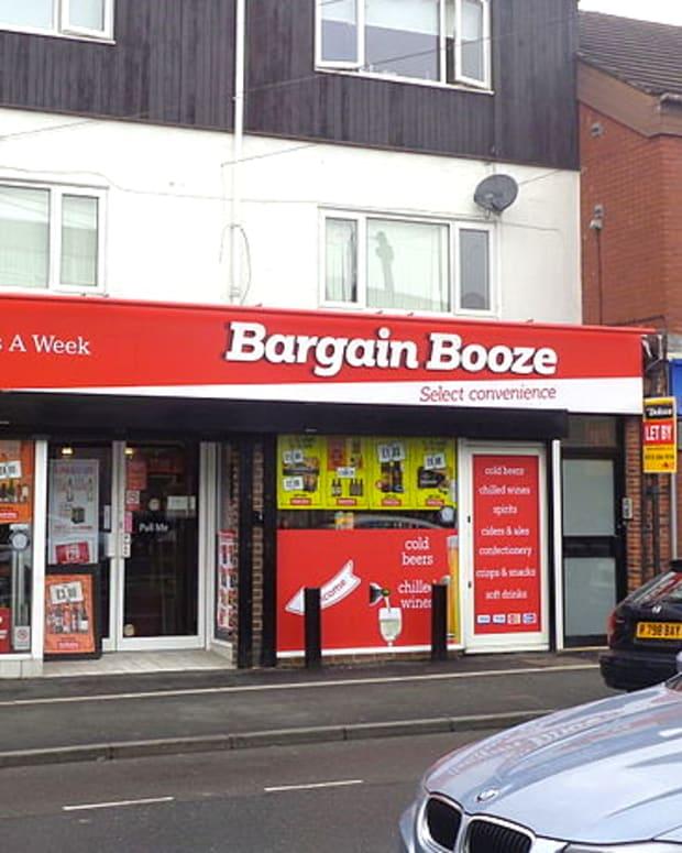 Bargain Booze Sign