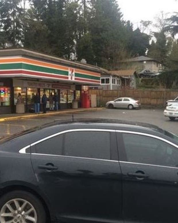 Hatchet-Wielding Attacker Shot, Killed By 7-11 Customer Promo Image