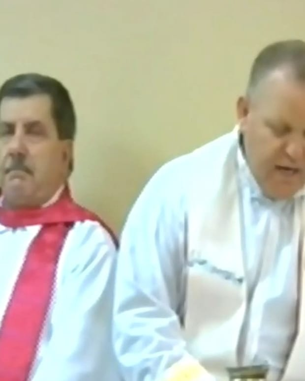 Priest Accused Of Gambling Money For Refugees (Video) Promo Image