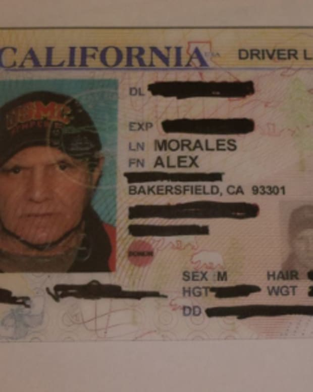 Alex Morales's driver's license photo