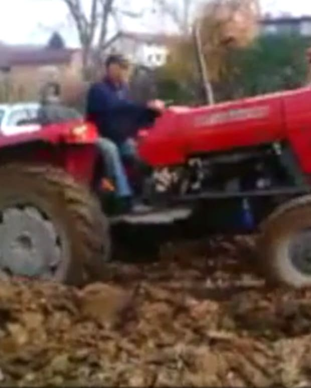 Farmer Traps Drivers Who Park On His Land.