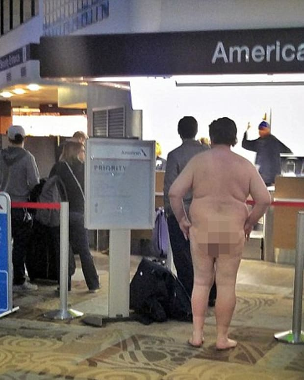 A Naked Man At Nashville International Airport