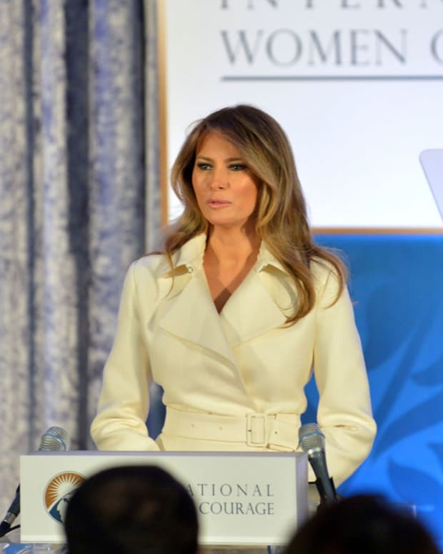 Melania Trump Steals Show At Mnuchin Wedding (Photos) Promo Image