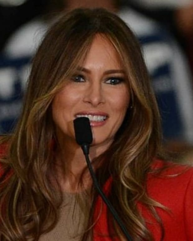 Melania Trump's Outfit During Speech Stirs Controversy (Photo) Promo Image