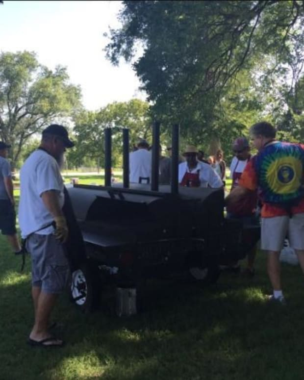Kansas Police And Black Lives Matter Hold Cookout Event Promo Image