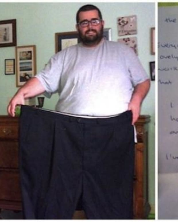 Morbidly Obese Jogger Finds Unexpected Note From Stranger (Photos) Promo Image