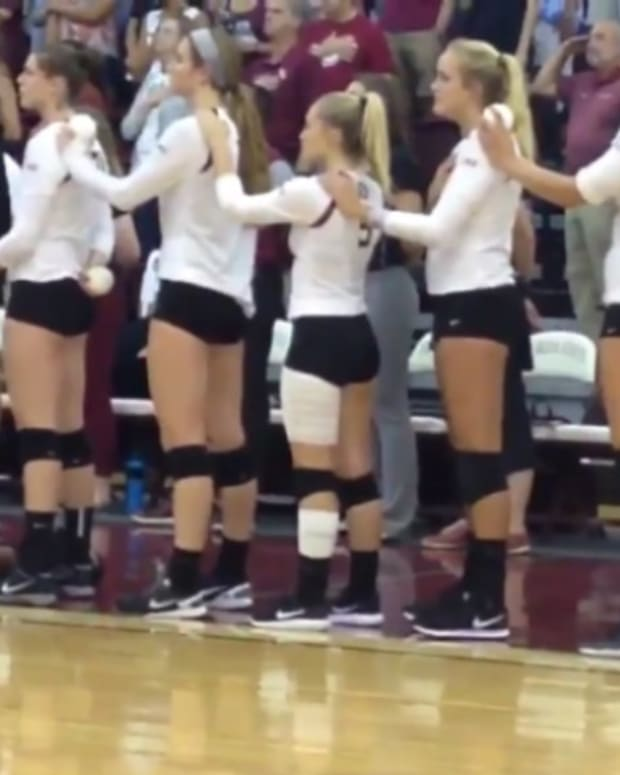 FSU Volleyball Player Takes Knee During Anthem Promo Image