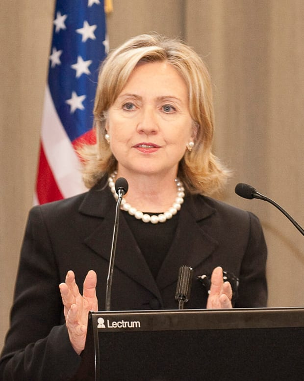 Hillary Clinton Says She Beat Donald Trump Promo Image