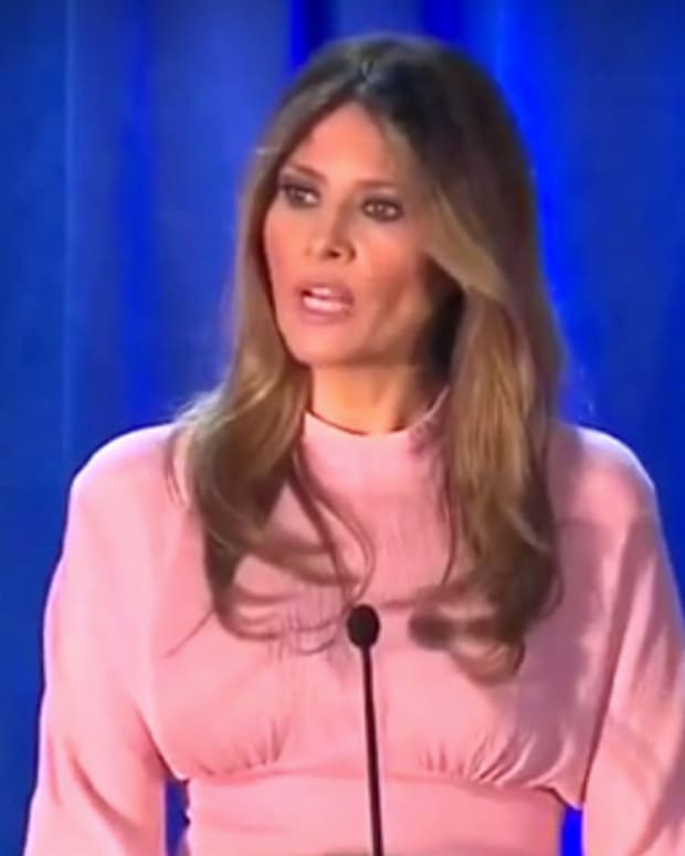 Melania Trump Scolds People For Social Media Bullying (Video) Promo Image