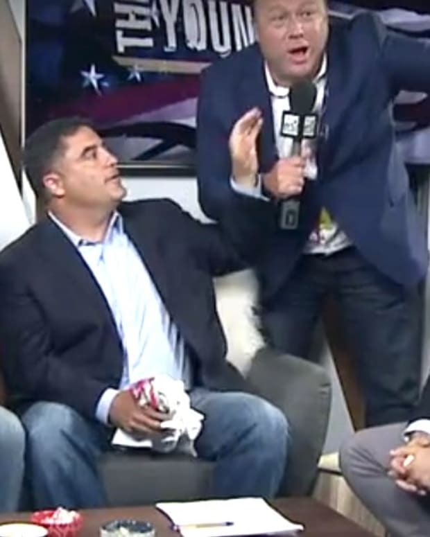 Alex Jones Crashes 'The Young Turks' Show (Video) Promo Image