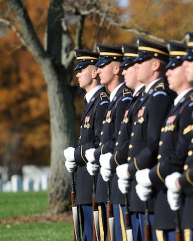 Obama Makes Honor Guard Speech, Then: BOOM (Photos) Promo Image