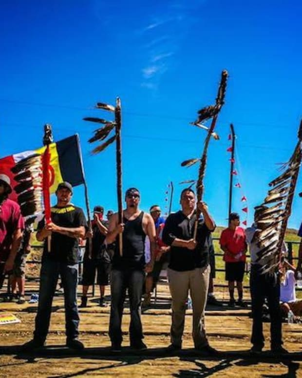 Police Arrest 141 At North Dakota Pipeline Protest Promo Image