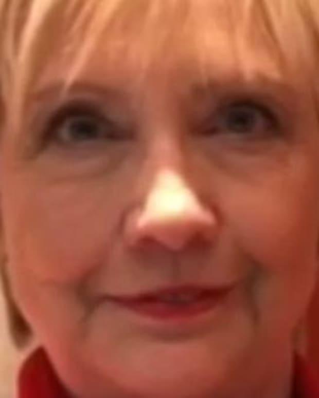Hillary Clinton Debuts Haircut At Women's Day Speech (Video) Promo Image