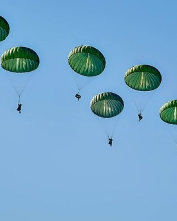 Navy Skydiver Killed When Parachute Fails To Open Promo Image