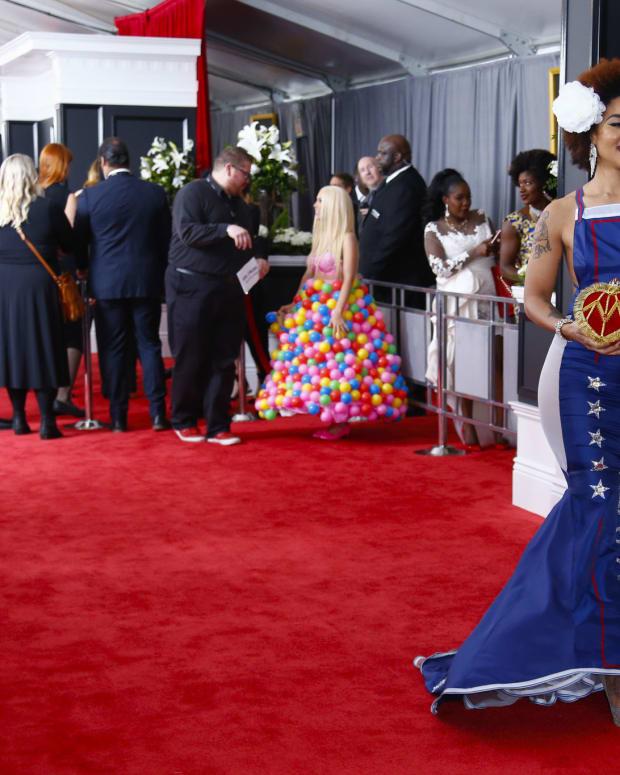 Singer Joy Villa Angers Many With Pro-Trump Dress (Photos) Promo Image