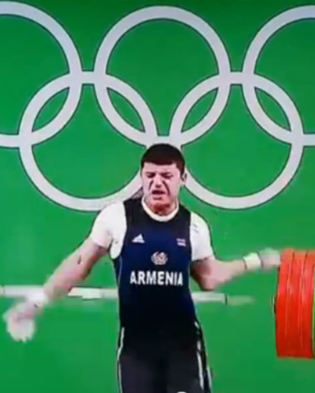 Armenian Olympic Weightlifter Dislocates Elbow (Video) Promo Image