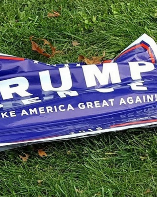Teens Charged With Hate Crime For Burning Trump Sign Promo Image