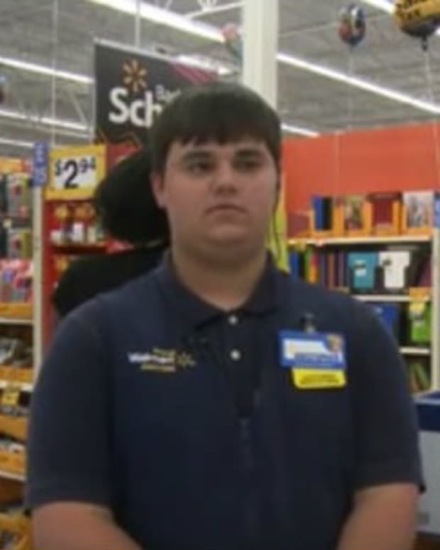 Teen Walmart Worker Uses Paycheck For Kids (Video) Promo Image