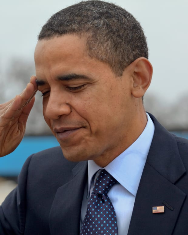 Obama Sporting A Relaxed Look In Cool Leather Jacket (Photo) Promo Image