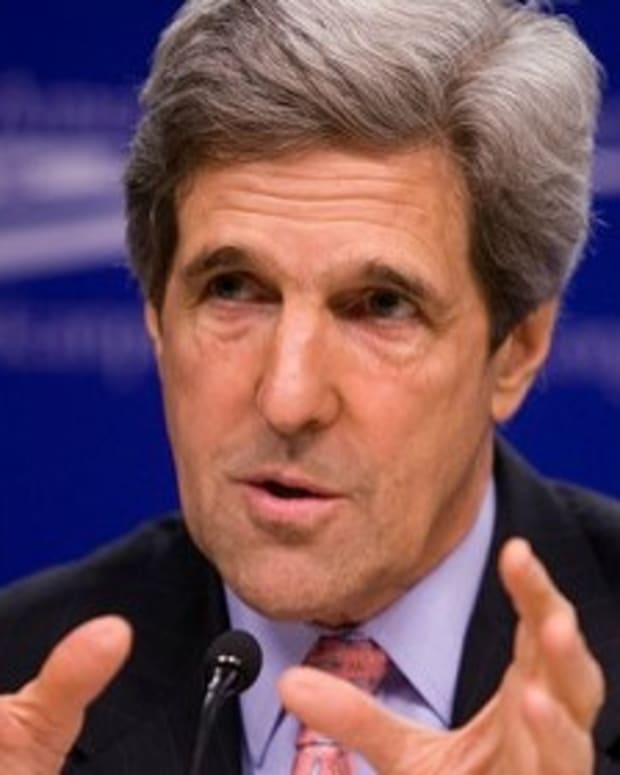 John Kerry Calls For War Crime Investigation Of Russia Promo Image